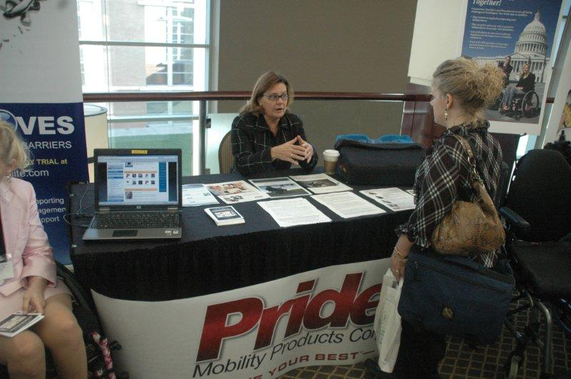 Pride Mobility booth