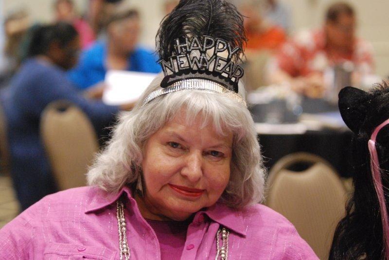 Lady with Happy New Year Crown